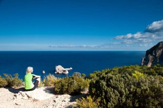 Blick aufs Meer bei Santa Agnes