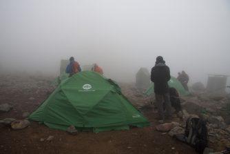 Ankunft im Arrow Glacier Camp