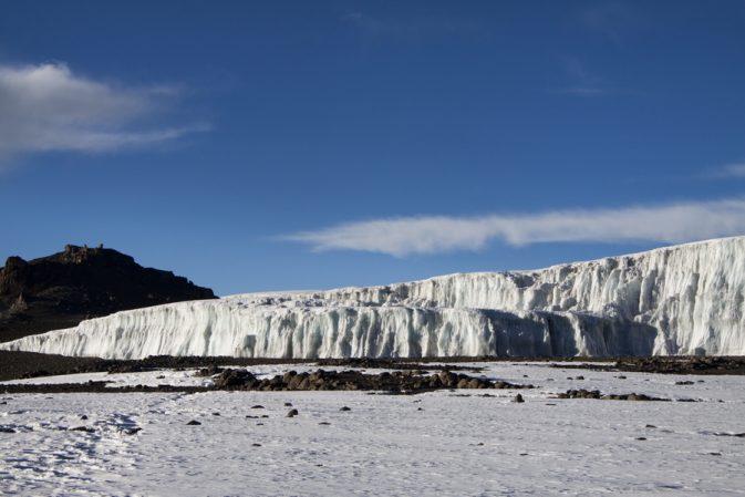 Die Gletscher am Kilimanjaro