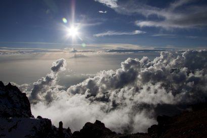 Über den Wolken am Ende der Western Breach