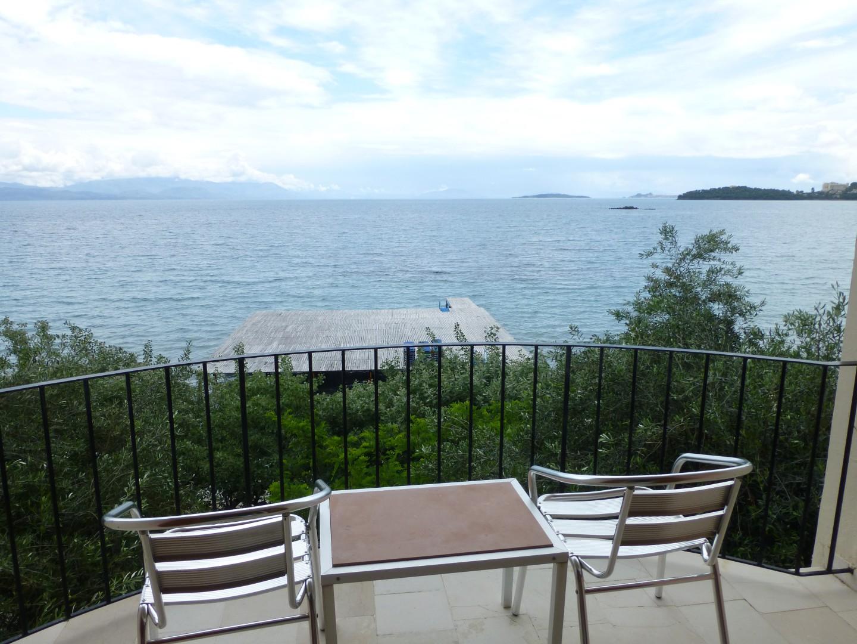 Ausblick vom Hotelbalkon Dassia Beach