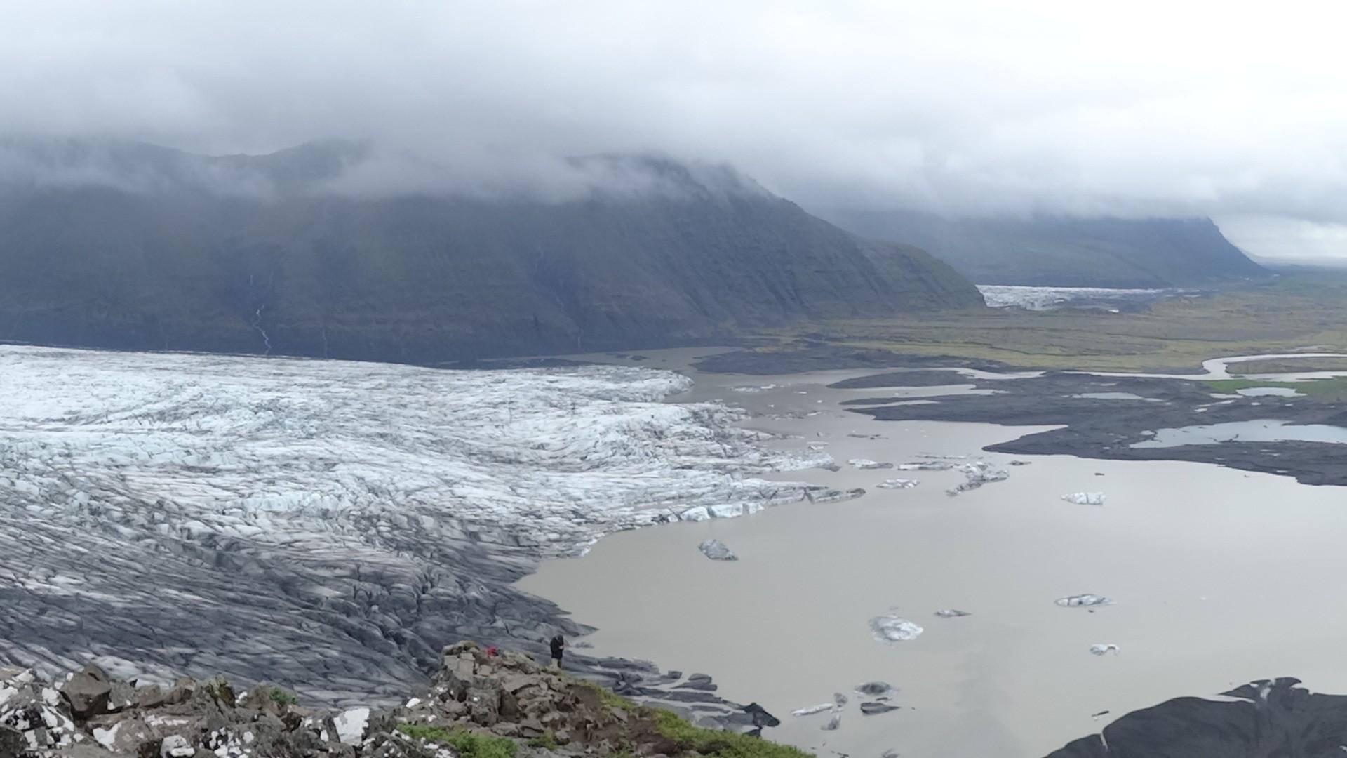 Ein Blick auf die Gletscherzunge