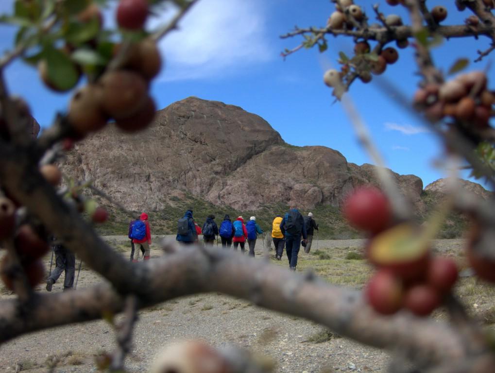 Die erste Wanderung bei Regen, Wind und Sonnenschein. So ist Patagonien.