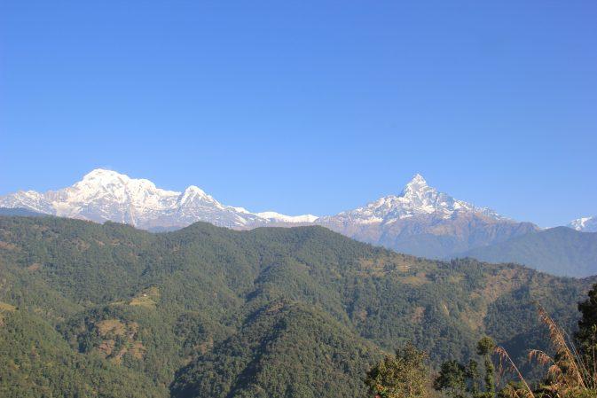 Die Annapurna-Kette..