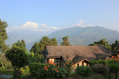 Das Annapurna-Massiv perfekt im Blick!