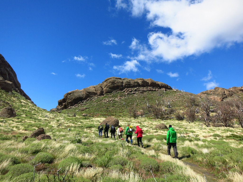Wanderung zum Aussichtspunkt des Torres del Paine Massivs.