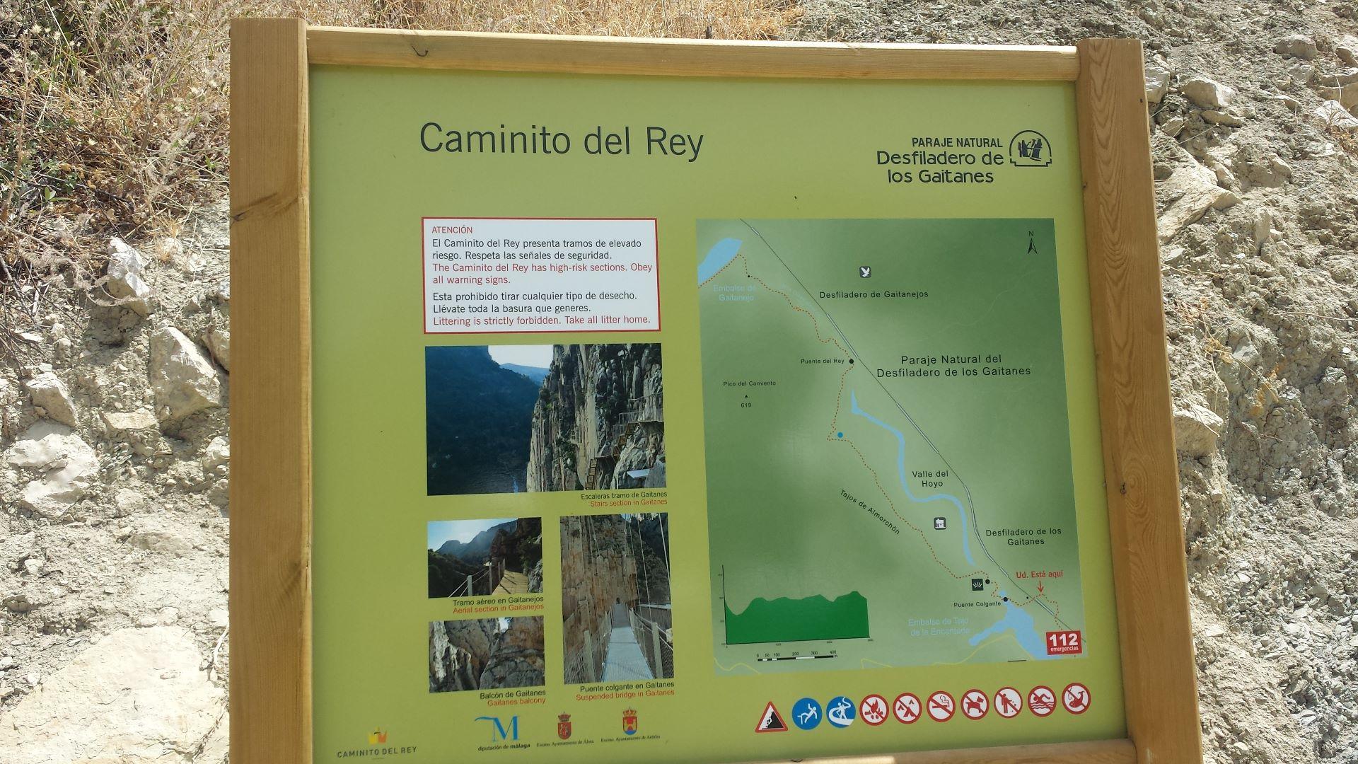Wegweiser Caminito del Rey