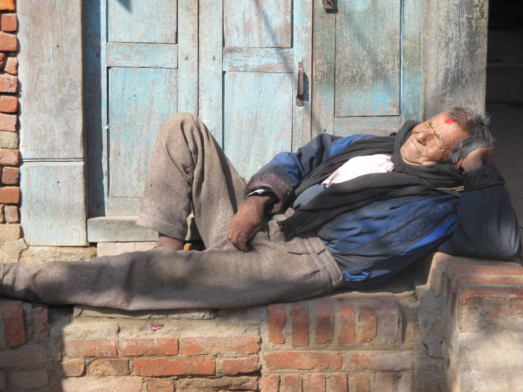 B. Düchting entspanntes Nepal