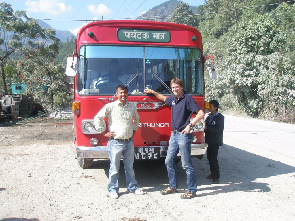 B. Düchting on the road in Nepal