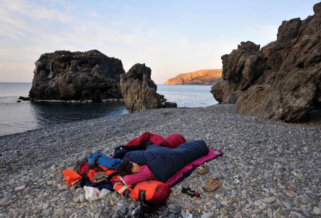 Leichter aber auch warmer Schlafsack ist bei der Kreta-Überschreitung goldwert