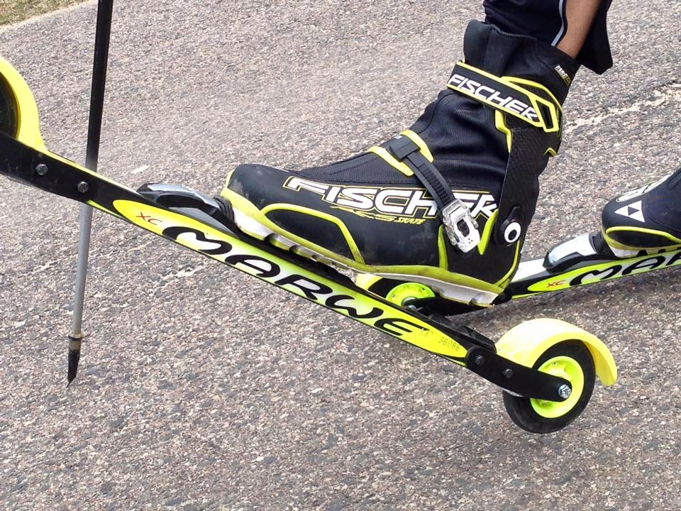 Mit den Skirollern ist der Langlauf am im Sommer möglich!