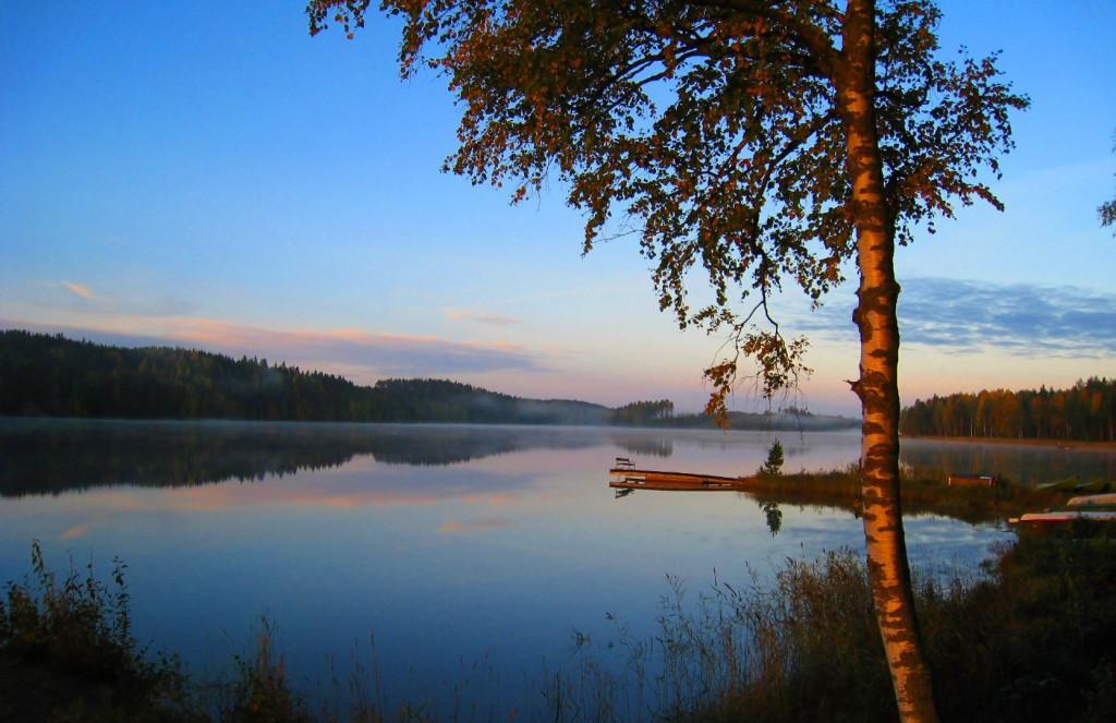 Blick auf den Pielinen-See