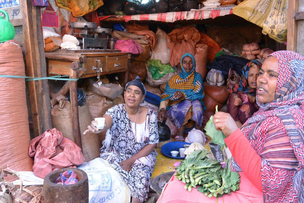 Begegnung auf dem Mercato in Addis