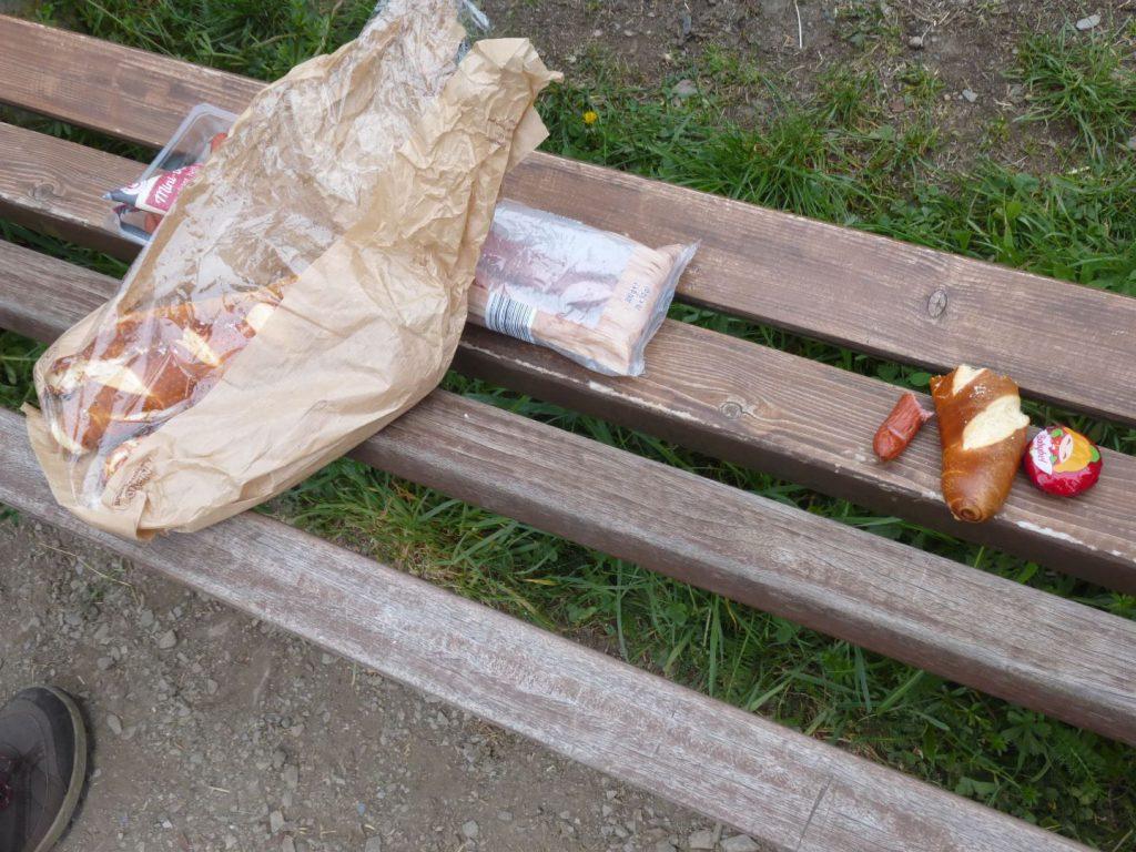 Kurzes Geierlay-Picknick
