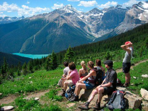 Panorama über dem Emerald Lake