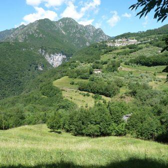 auf dem Weg von Tignale nach Pieve