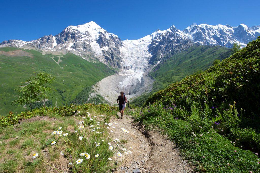 Auf dem Weg zum Chkhutnieri-Pass