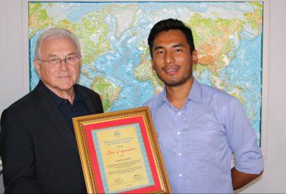 Dankes-Urkunde an Georg Kraus Stiftung