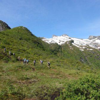 Aufstieg zur Lofotenwand