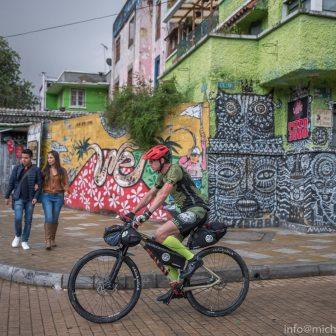 Guido in der Altstadt von Bogotá