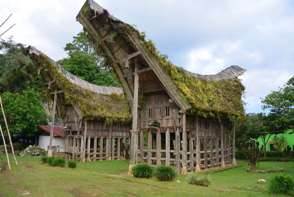 traditionelle Häuser in Toraja