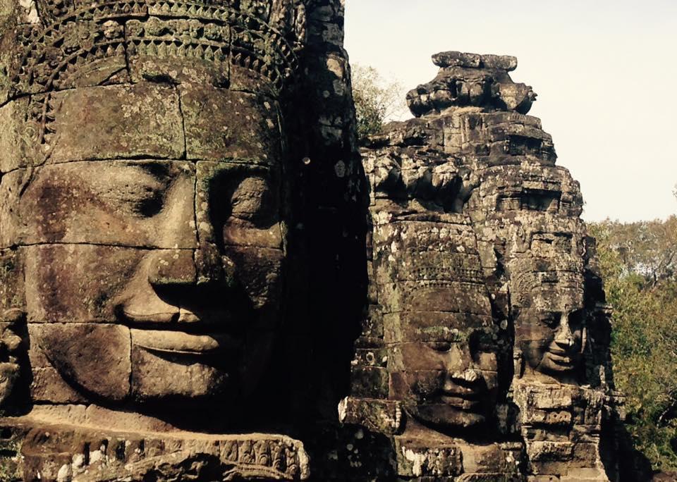 Keine Spur vom Winter an der Tempelanlage Angkor