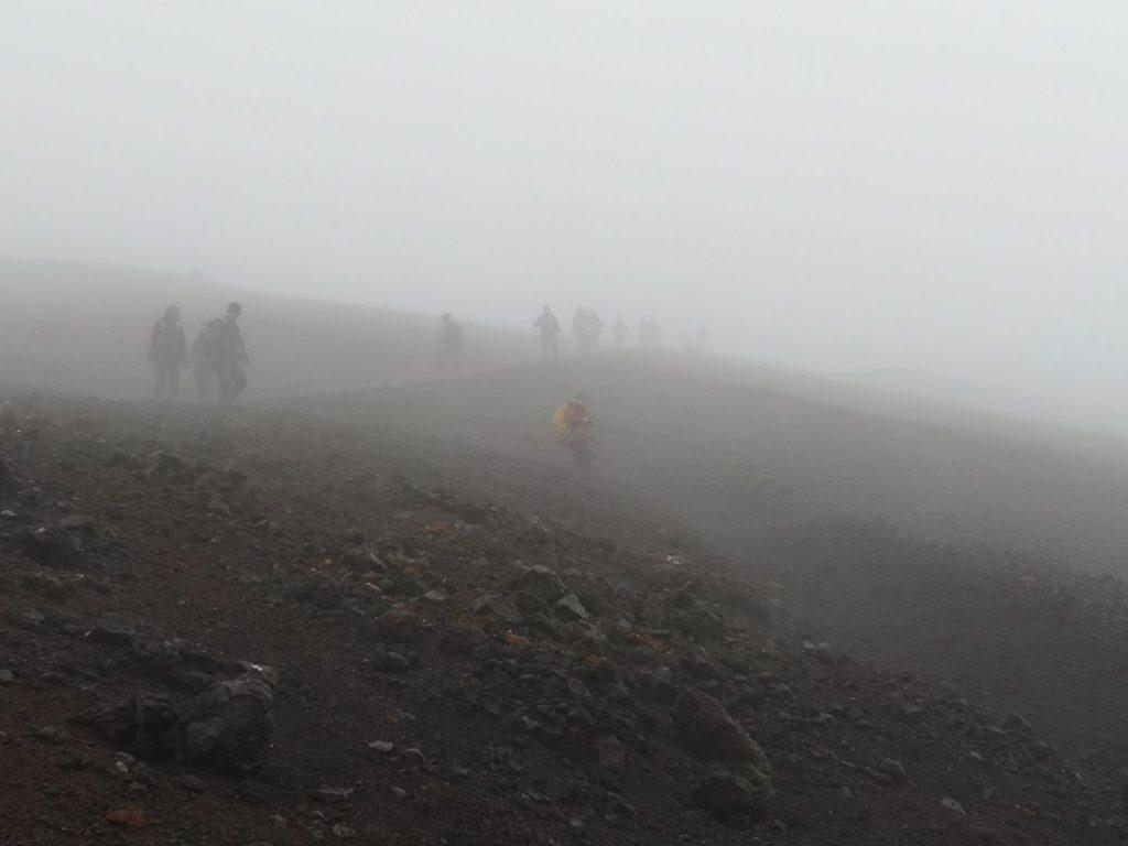 Wandergruppe am Eldfell