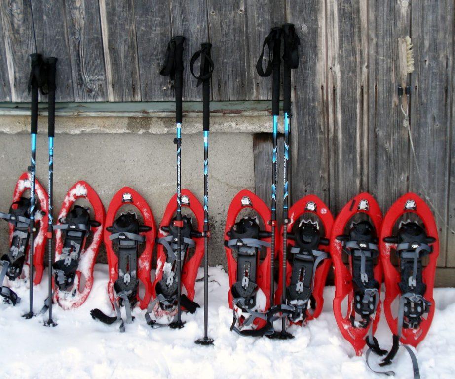 Pause bei der Schneeschuhtour
