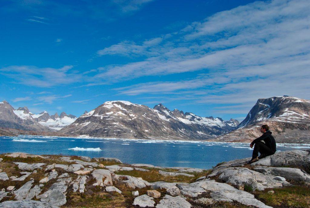 Wanderer auf Grönland