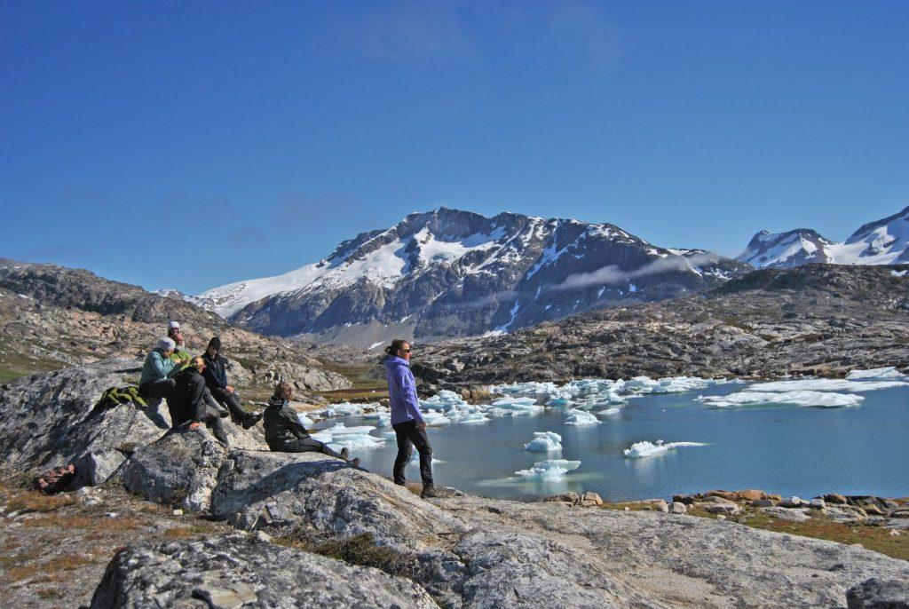 Wandergruppe auf Grönland