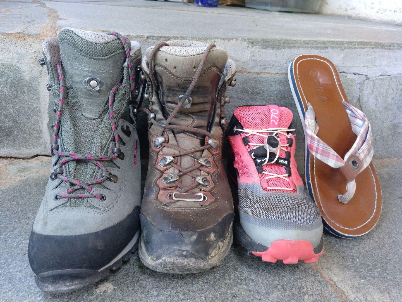 Schuhwahl auf Trekking-Tour