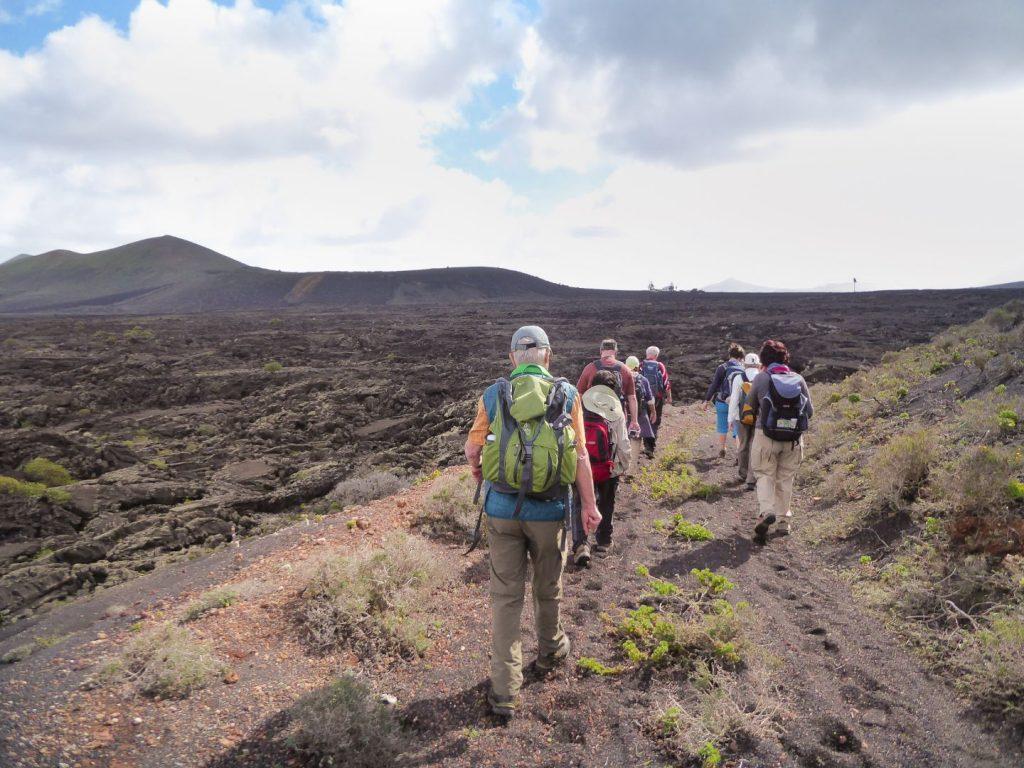 Wanderung entlang der Lavafelder