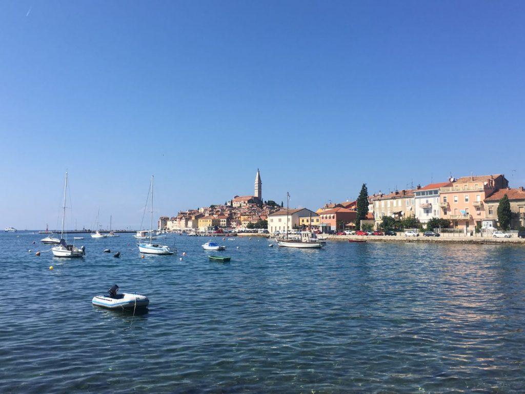 Blick auf die einstige Inselstadt Rovinj