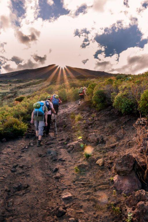 Aufstieg zu den Kratern