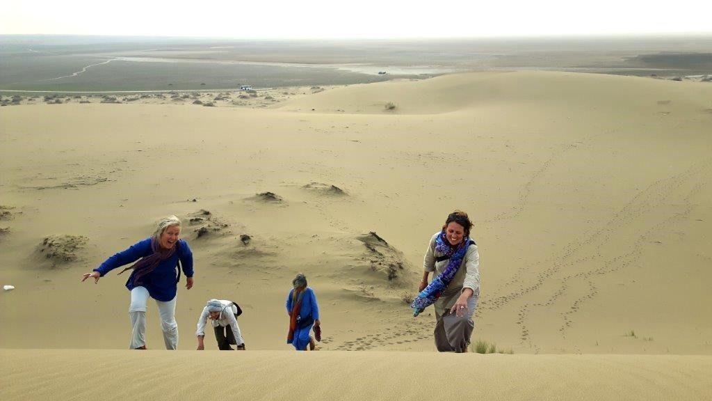 Spaß beim Trekking im Iran