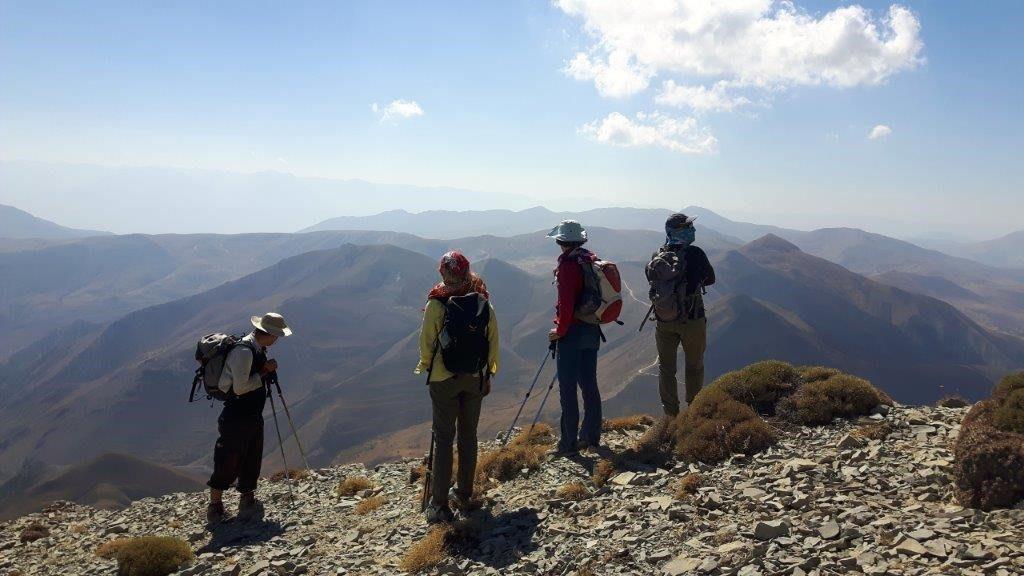 Ausblick beim Trekking im Iran