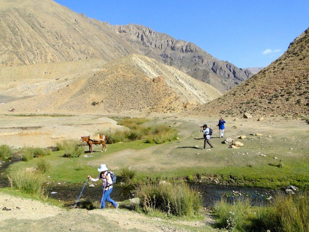 Landschaft beim Trekking im Iran