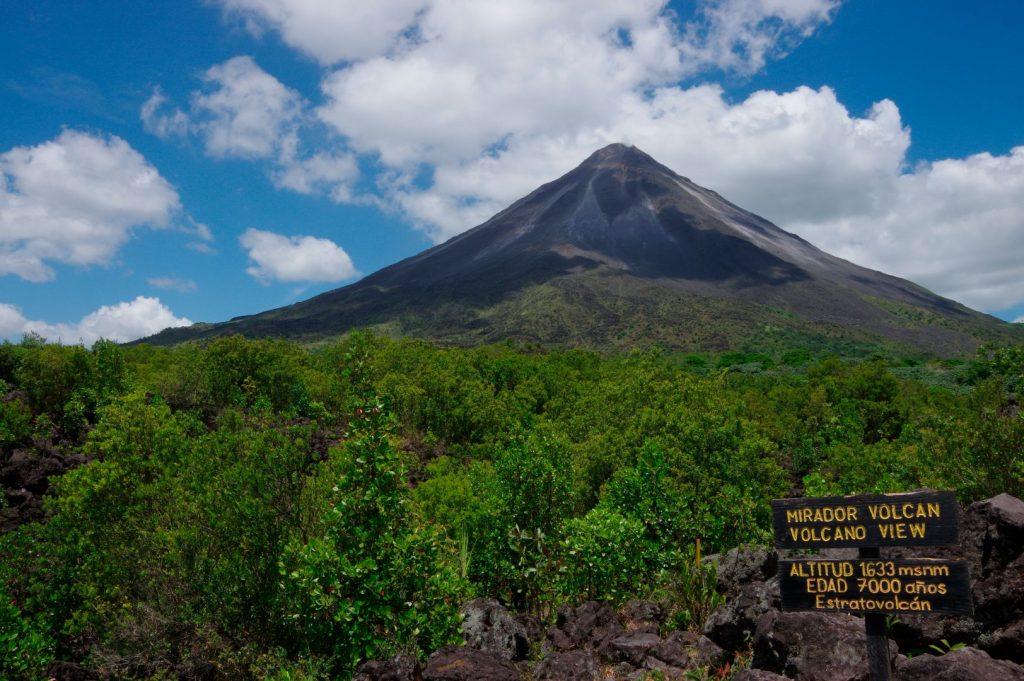 Während der Vulkantour: Am Fuße des Arenal