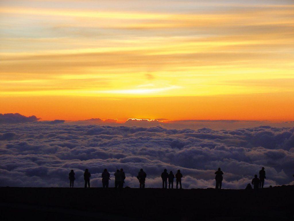 Highlight einer Vulkantour: Sonnenuntergang auf dem Haleakala-Krater