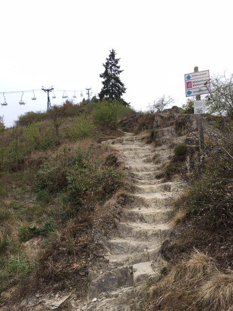Aufstieg zum Boppard-Klettersteig