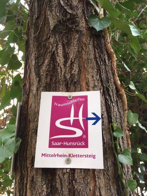 Wegweiser Mittelrhein-Klettersteig