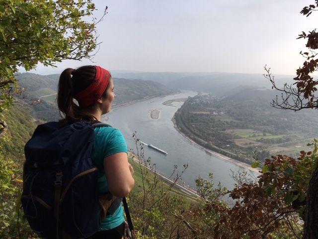 Ausblick auf den Rhein am Boppard-Klettersteig