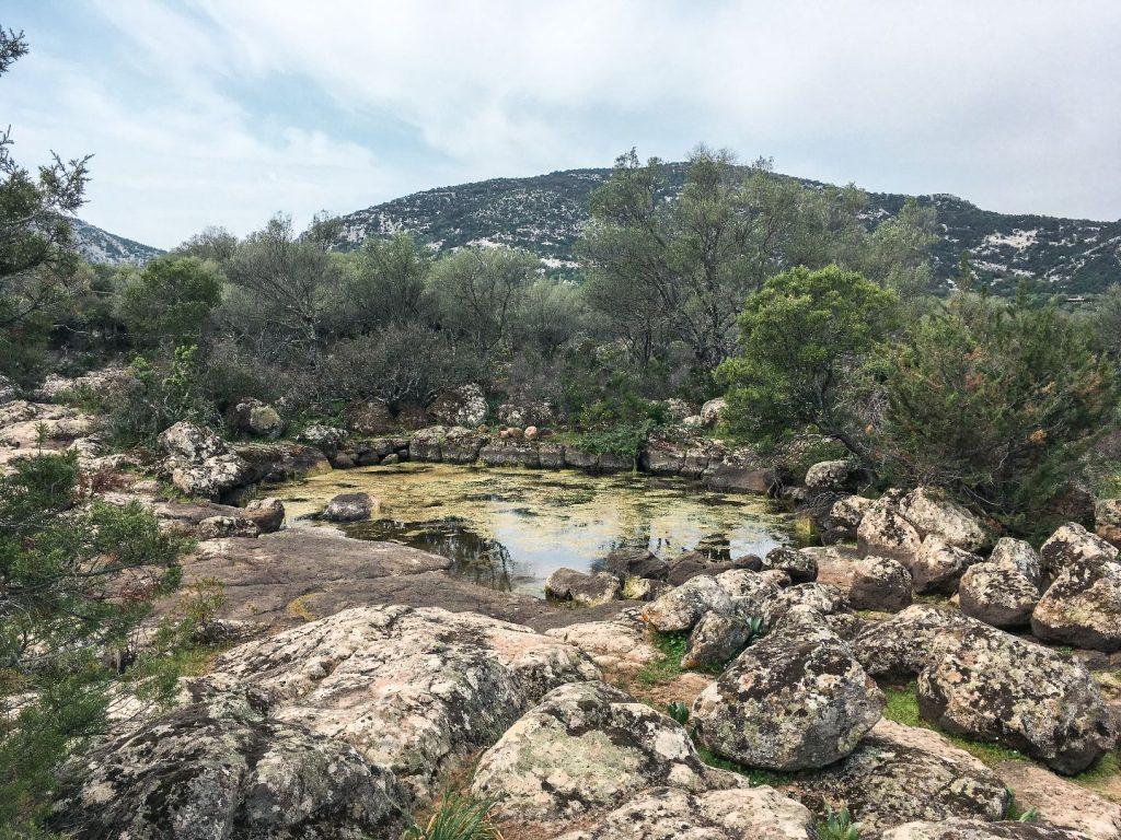 Urlaubserinnerung: Wasserstelle auf der Golgo-Hochebene