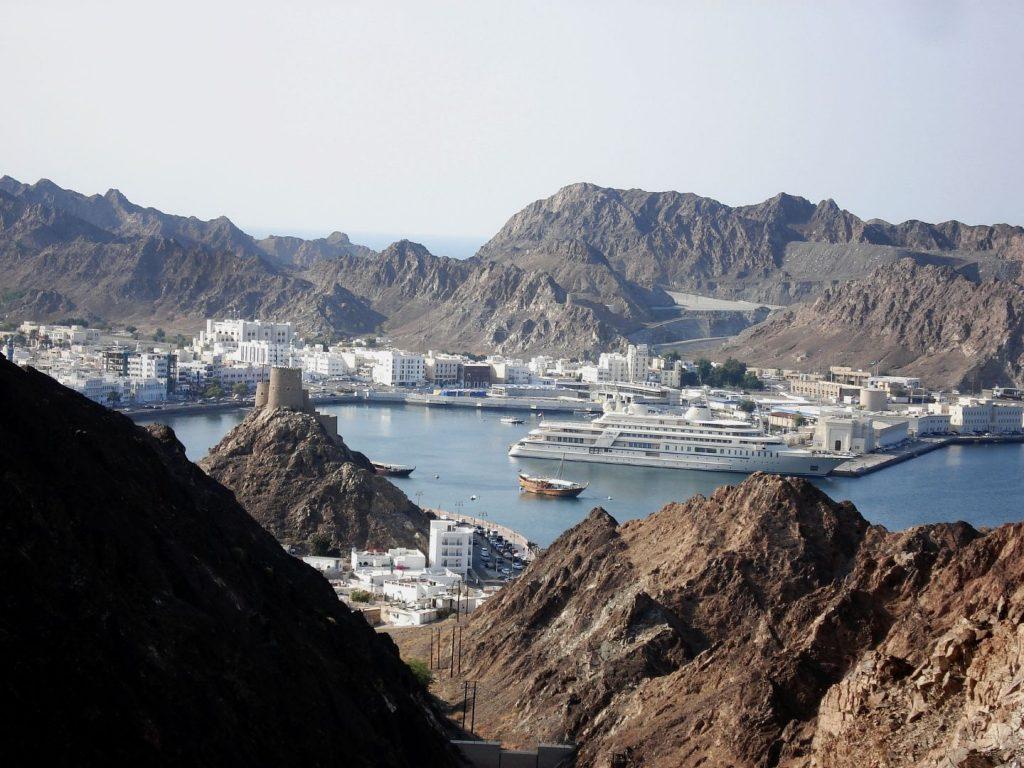 Blick in den Hafen von Muttrah - ein Ortsteil von Muscat