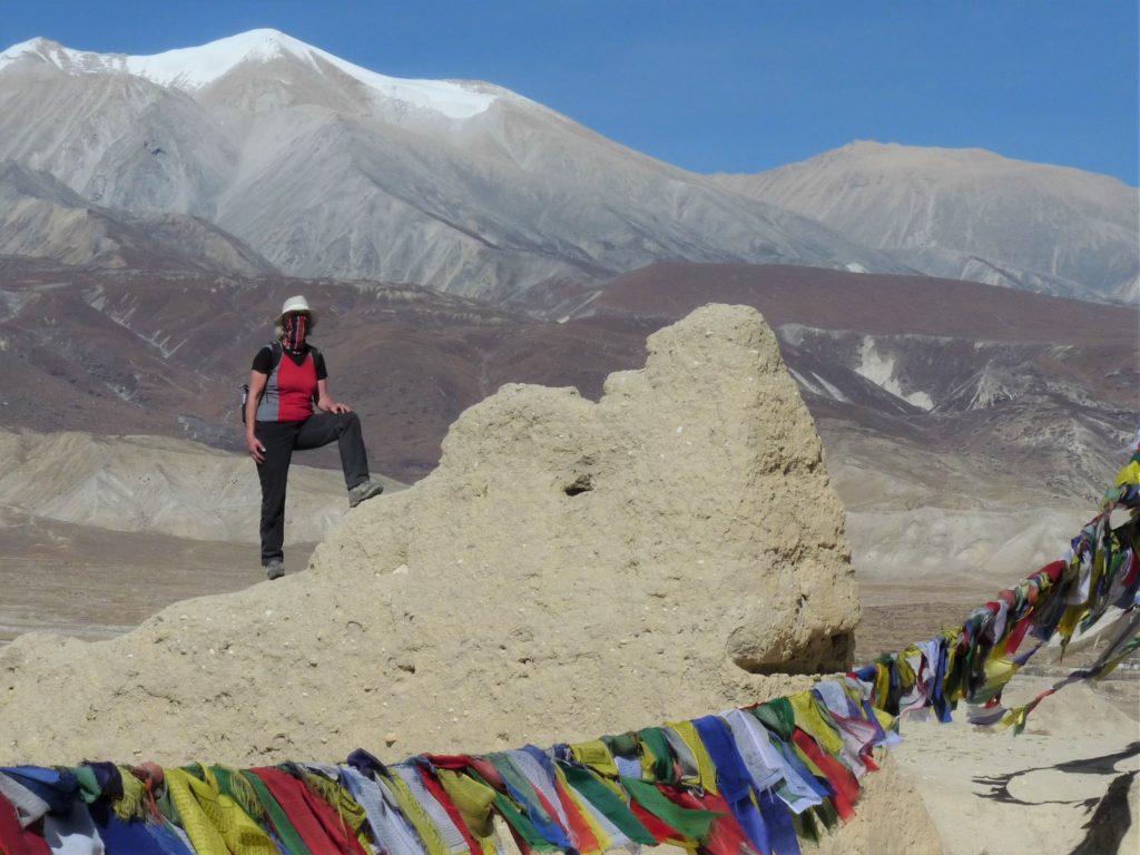 Die Blicke auf den Himalaya, Lo Manthang, Mustang, Nepal.