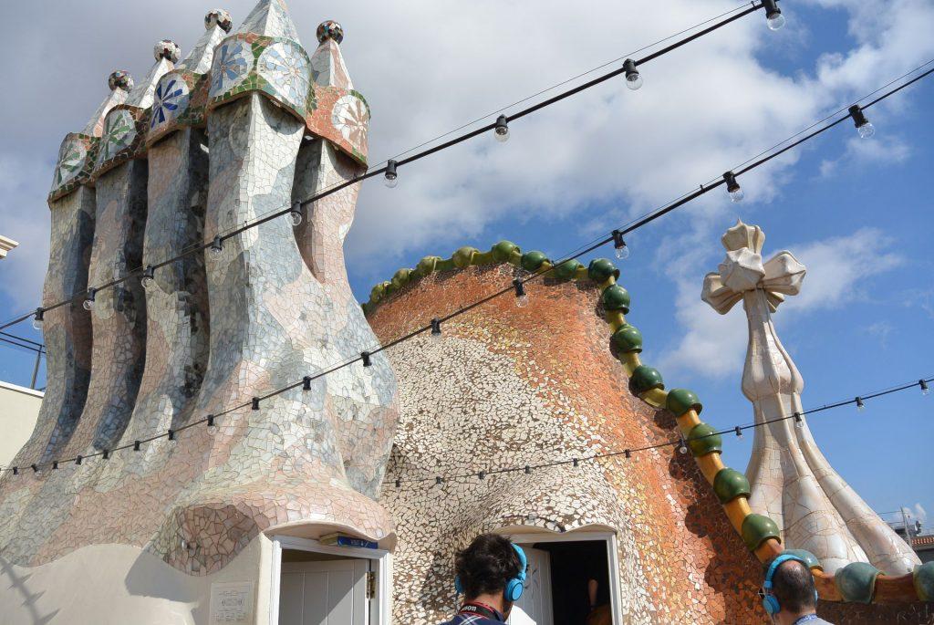 Auf dem Dach der Casa Batllò