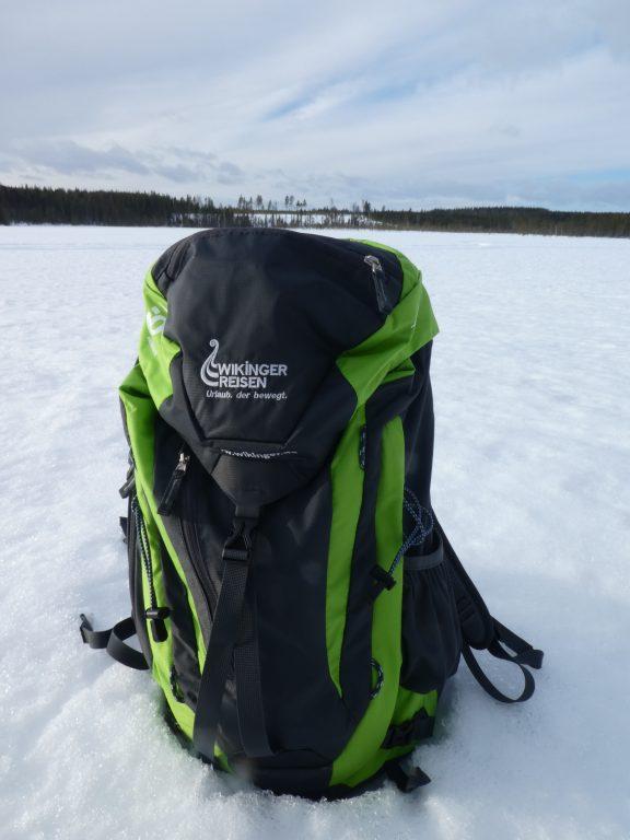 Wikinger Jubiläums-Rucksack im Schnee