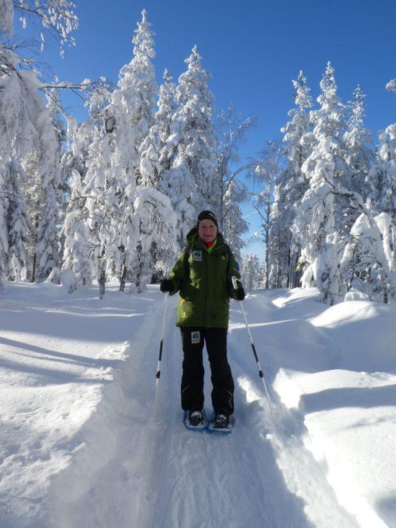 Mit den Schneeschuhen wandern