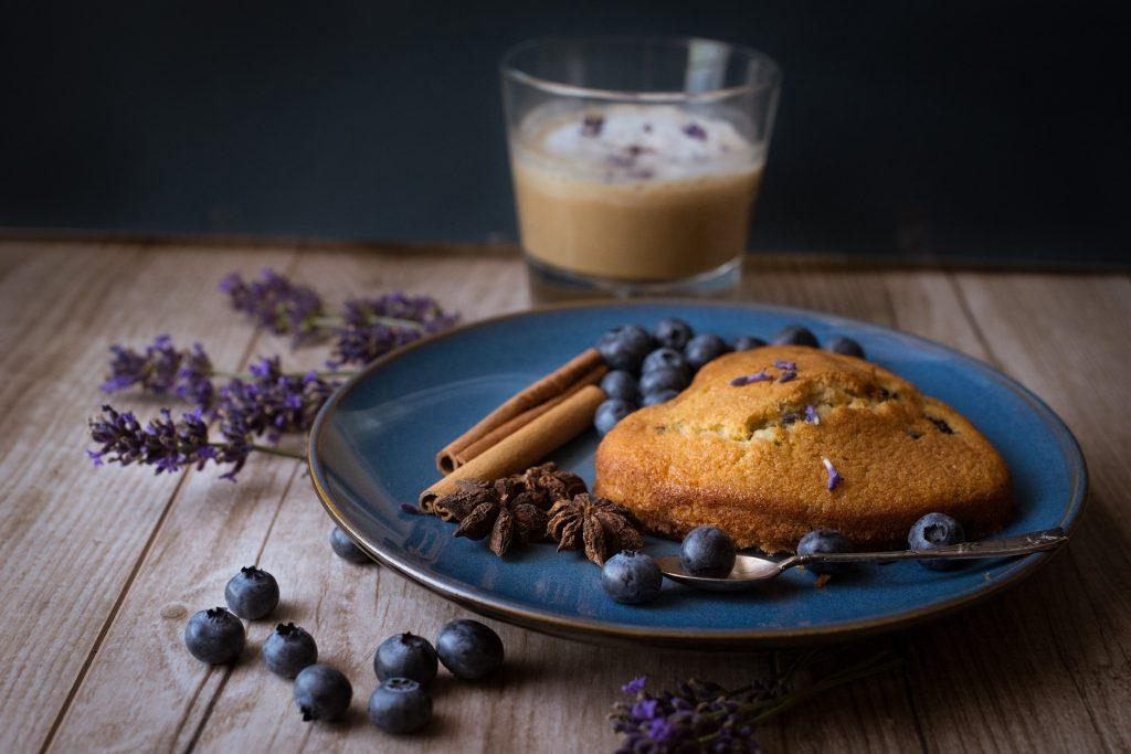 Kuchen mit Lavendel