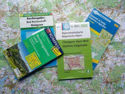 topografische Karten